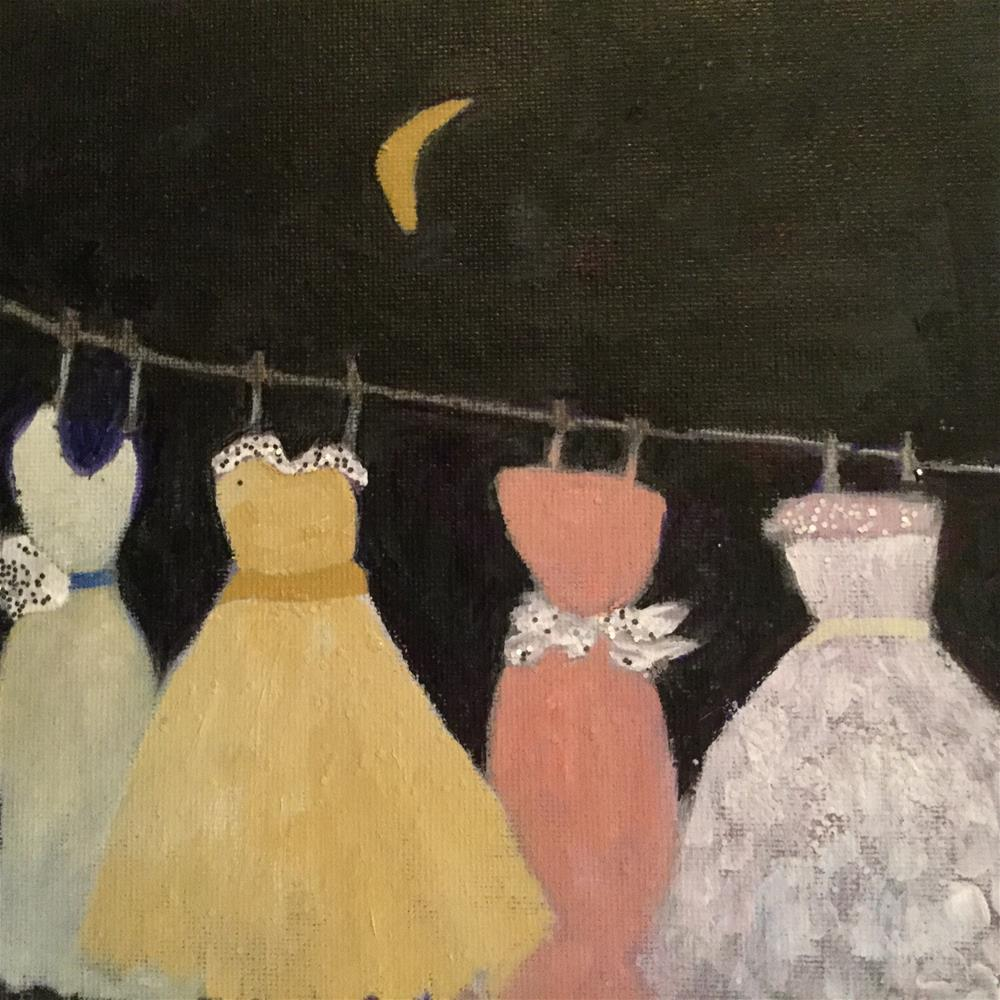 """Emergency ball gowns 2"" original fine art by pamela kish"