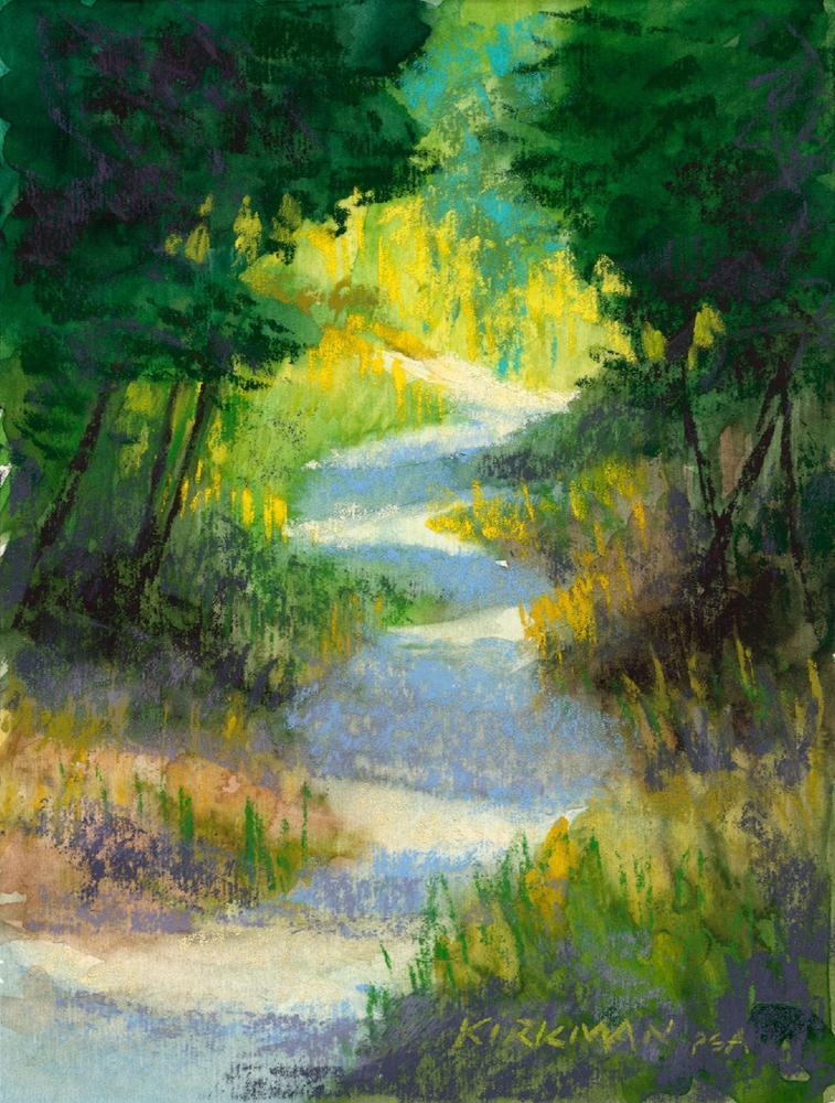 """""""Park Trail #23"""" original fine art by Rita Kirkman"""