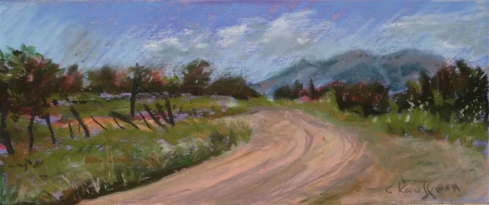 """Dirt Road Pass in Colorado"" original fine art by Catherine Kauffman"