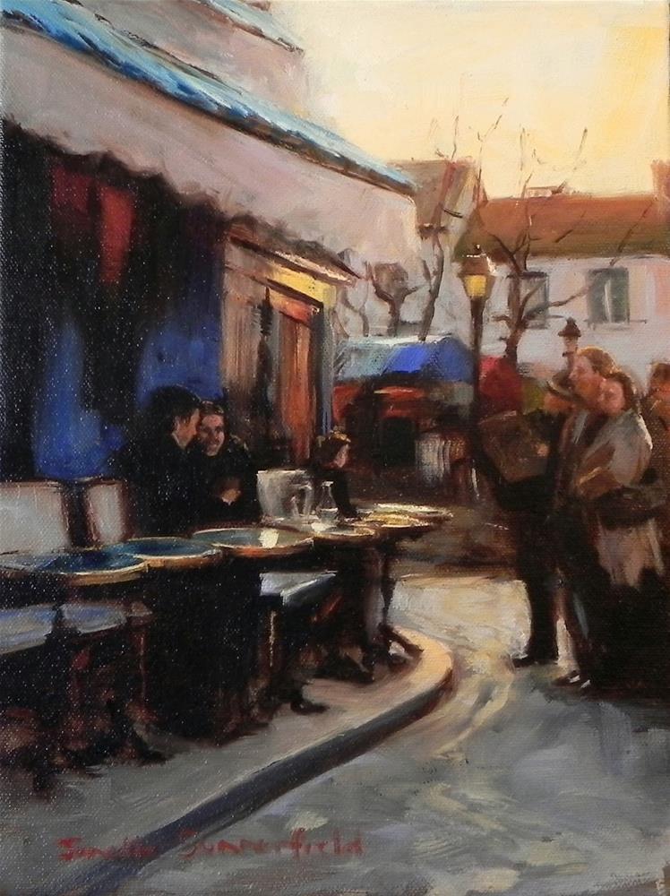 """""""Cafe in Montmartre II"""" original fine art by Jonelle Summerfield"""