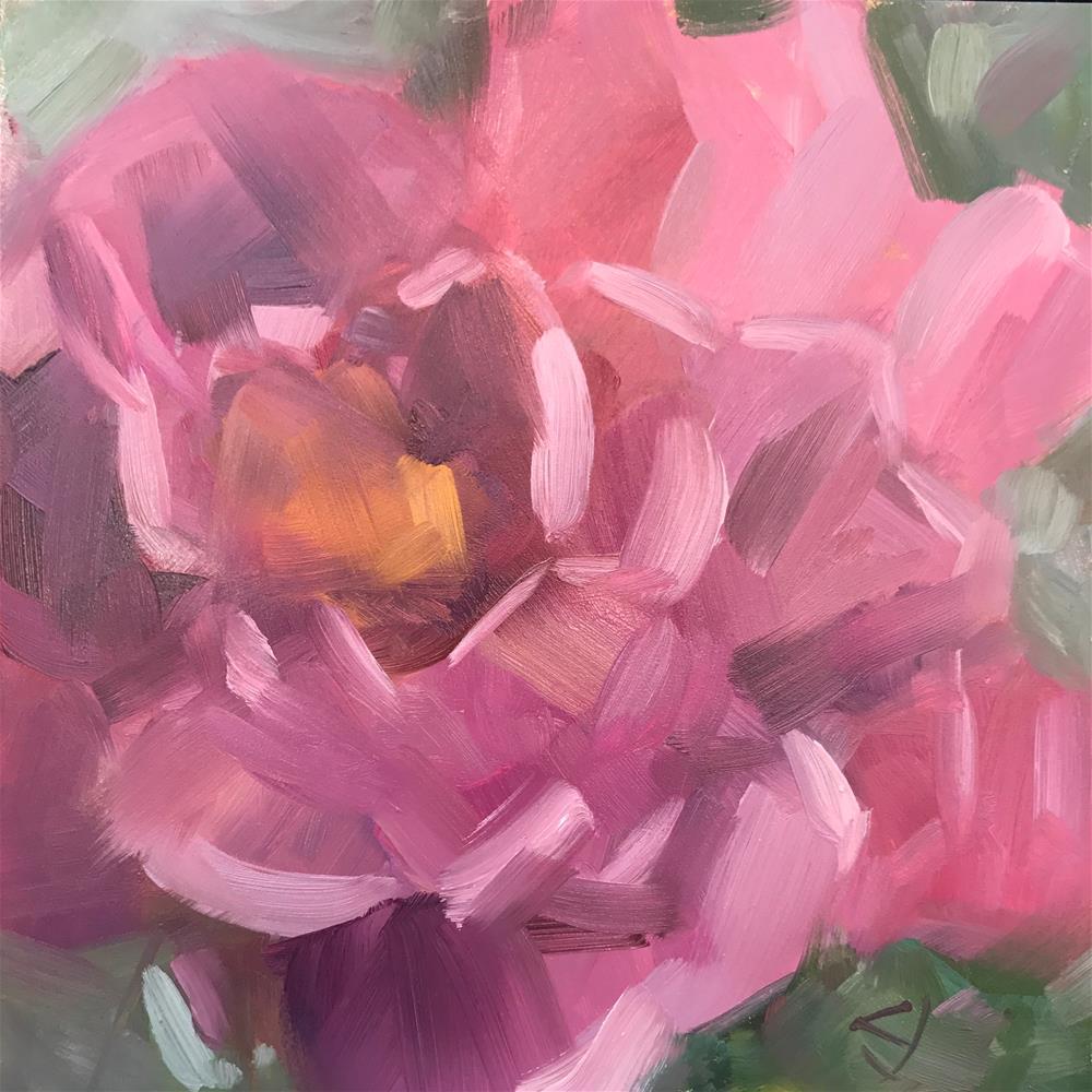"""Hot Rose"" original fine art by Carol Johansen"