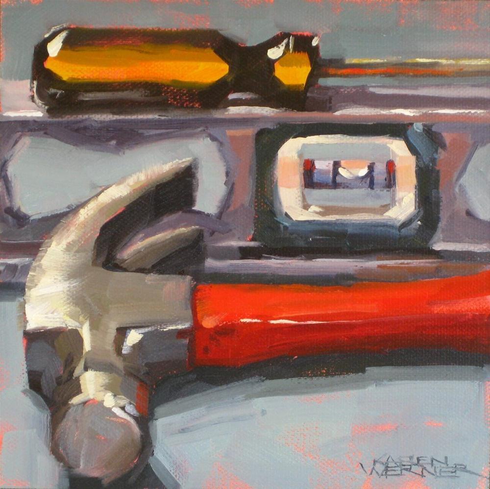 """On The Level"" original fine art by Karen Werner"
