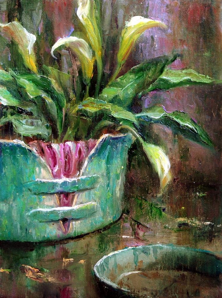 """""""Mother's Pottery #10"""" original fine art by Julie Ford Oliver"""