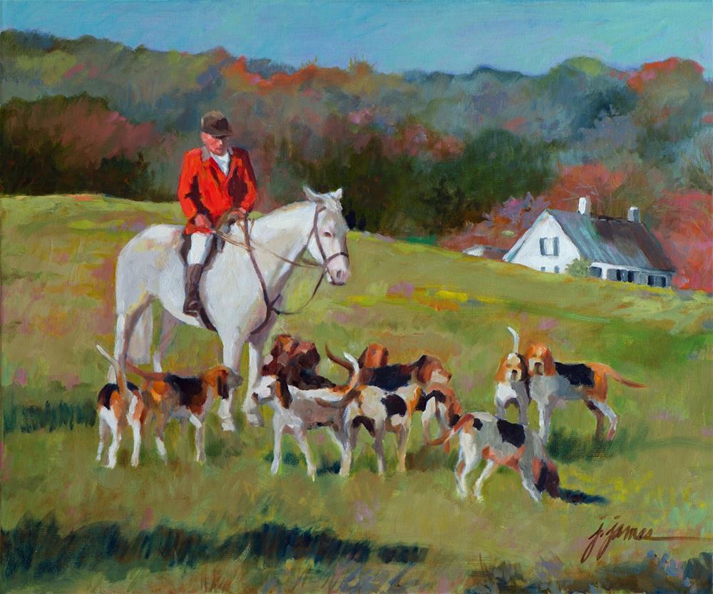 """Thanksgiving Morn"" original fine art by Jini James"
