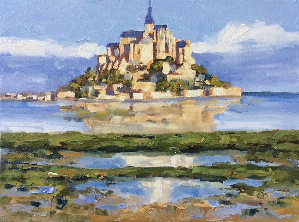 """""""Mont St. Michel"""" original fine art by Tom Brown"""