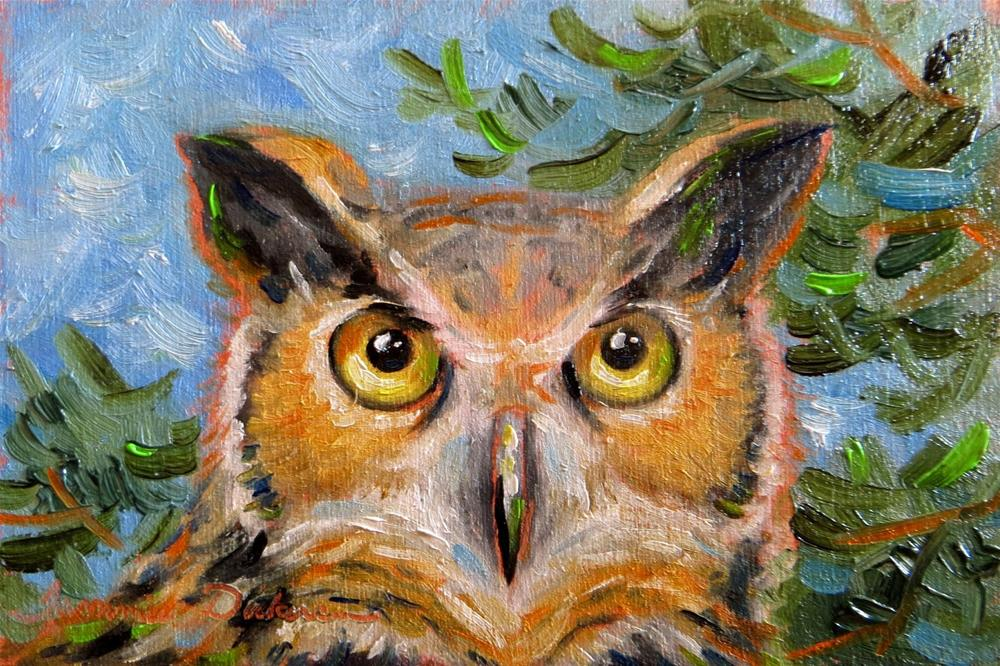"""""""Great Horned Owl"""" original fine art by Tammie Dickerson"""