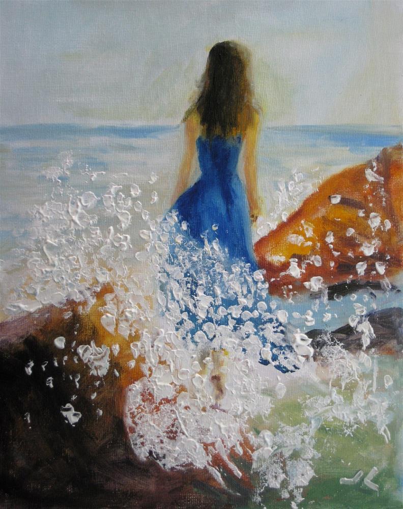 """""""Dream Dress"""" original fine art by Julia Lu"""