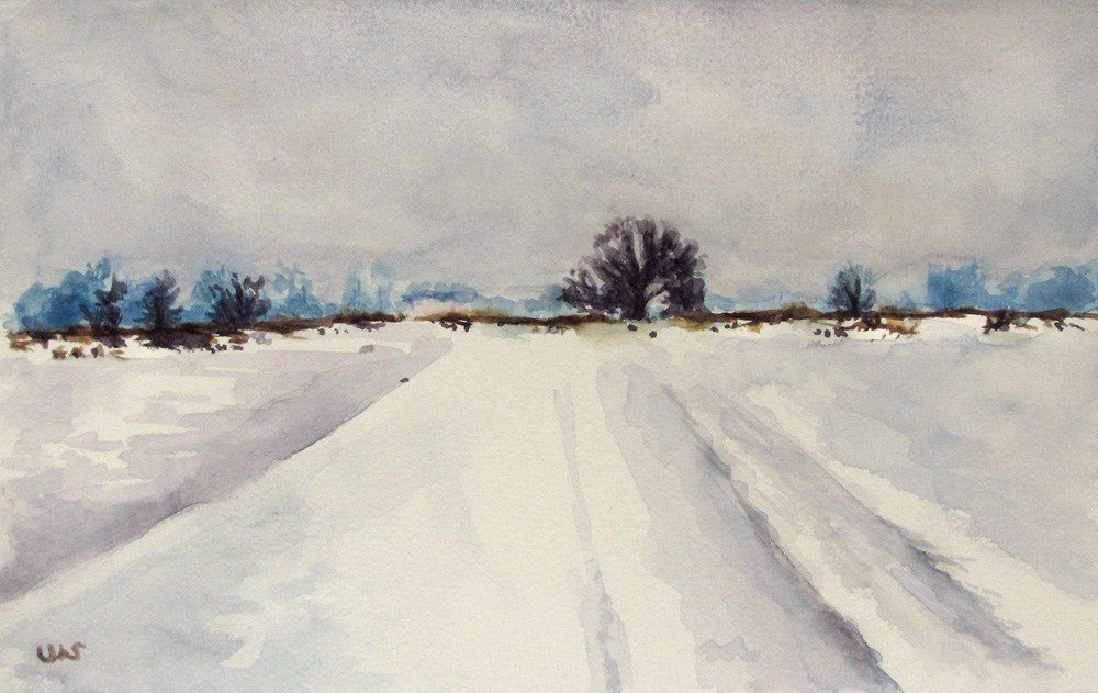 """Snow Field"" original fine art by Ulrike Miesen-Schuermann"