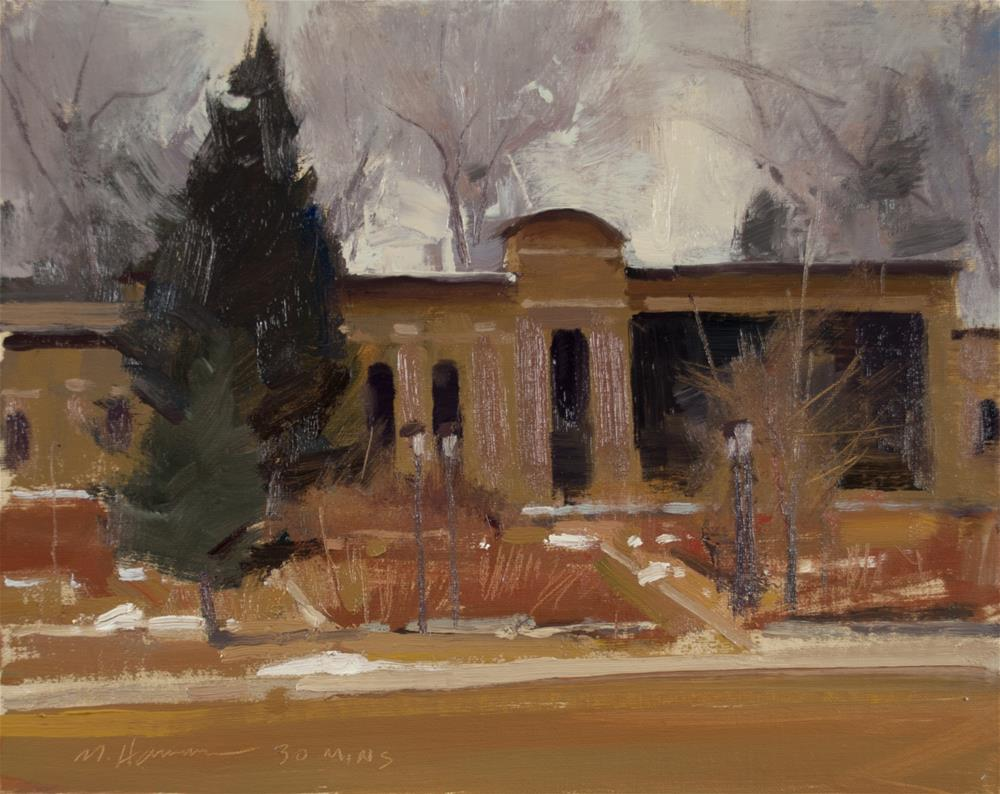 """2-17-4 Winter Rose Garden #2"" original fine art by Marc Hanson"