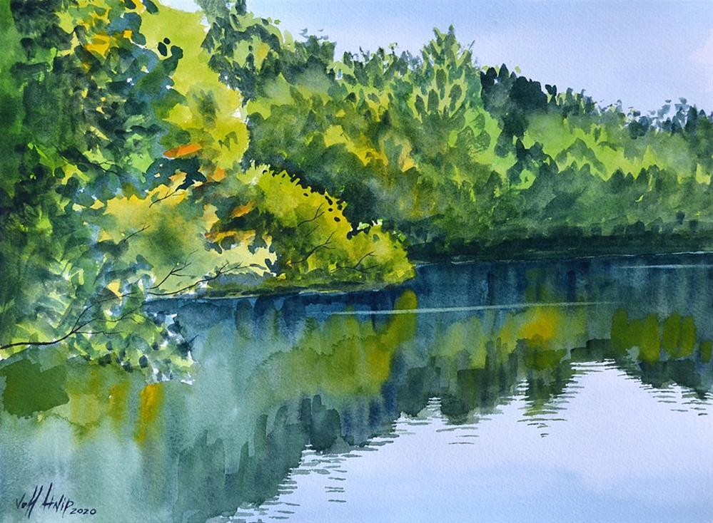 """Trail Pond"" original fine art by Jeff Atnip"