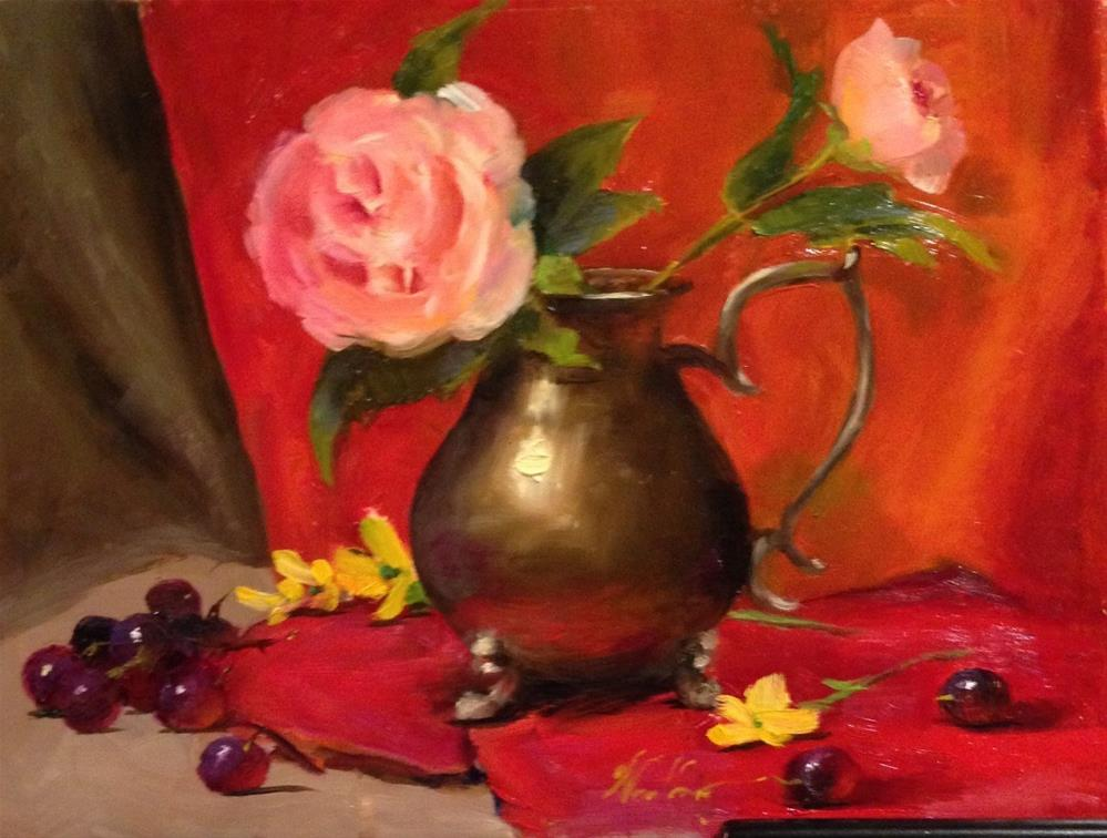"""Little Bit Red"" original fine art by Dorothy Woolbright"