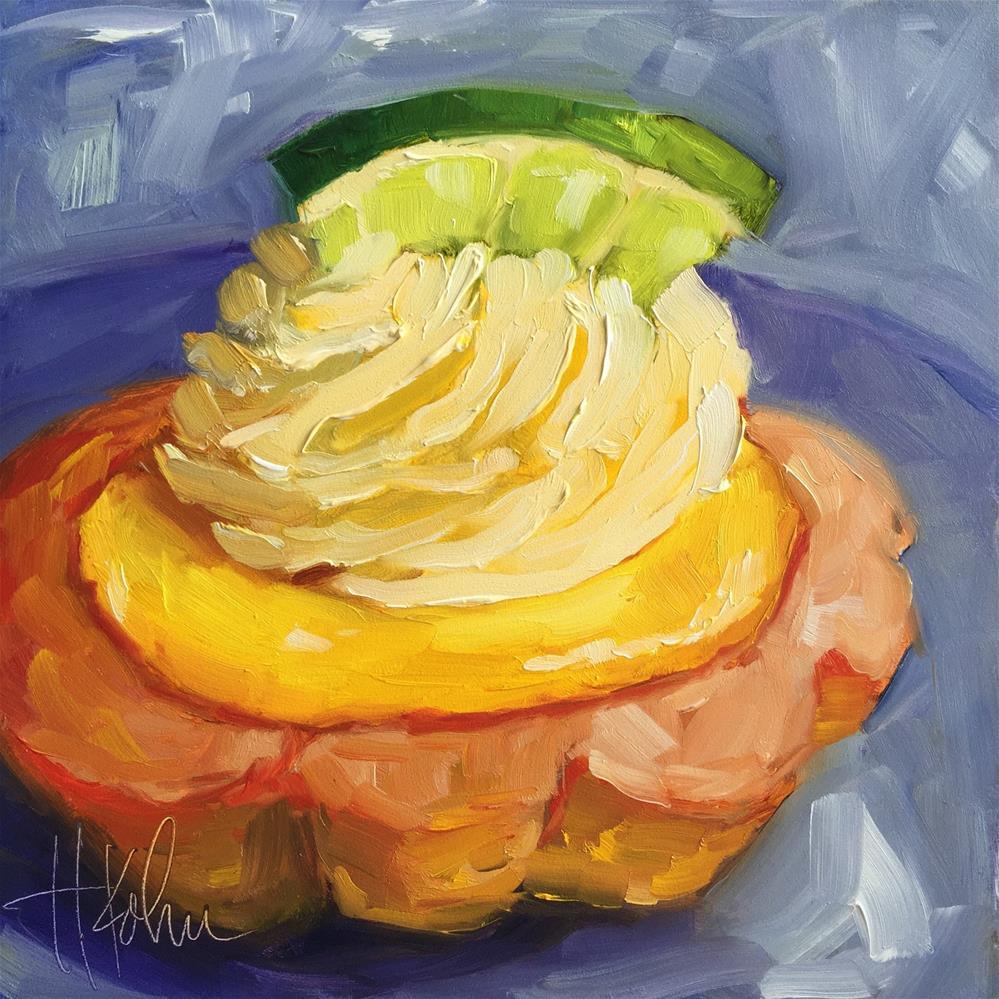 """Key Lime Tart"" original fine art by Hallie Kohn"