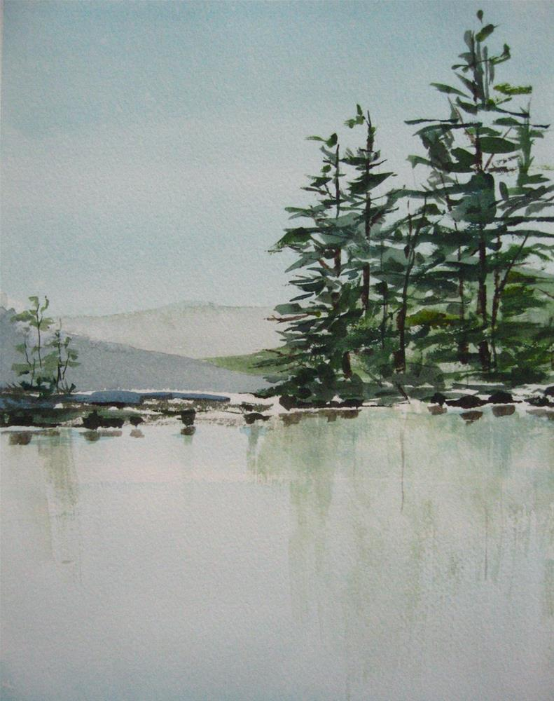 """Lake Reflections"" original fine art by Judith Freeman Clark"