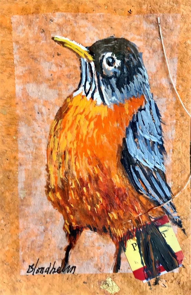 """Robin"" original fine art by Linda Blondheim"