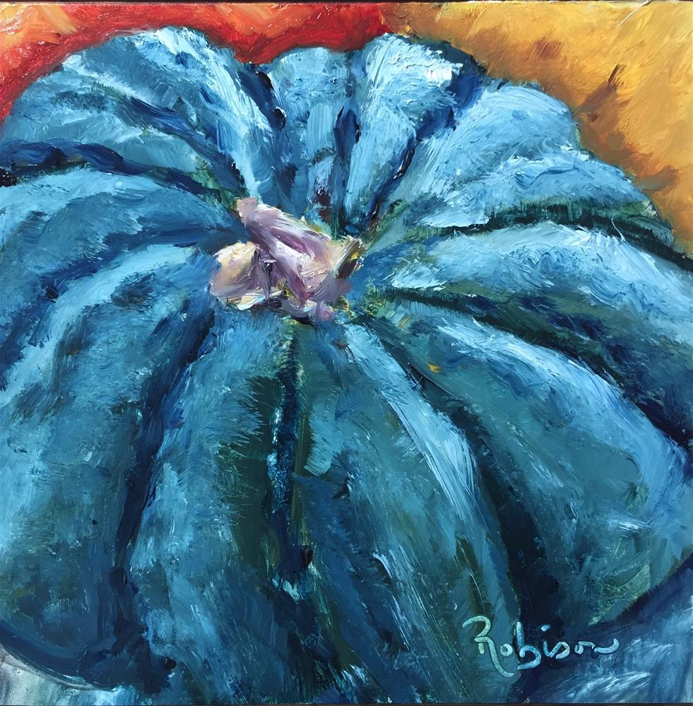 """Blue Pumpkin"" original fine art by Renee Robison"