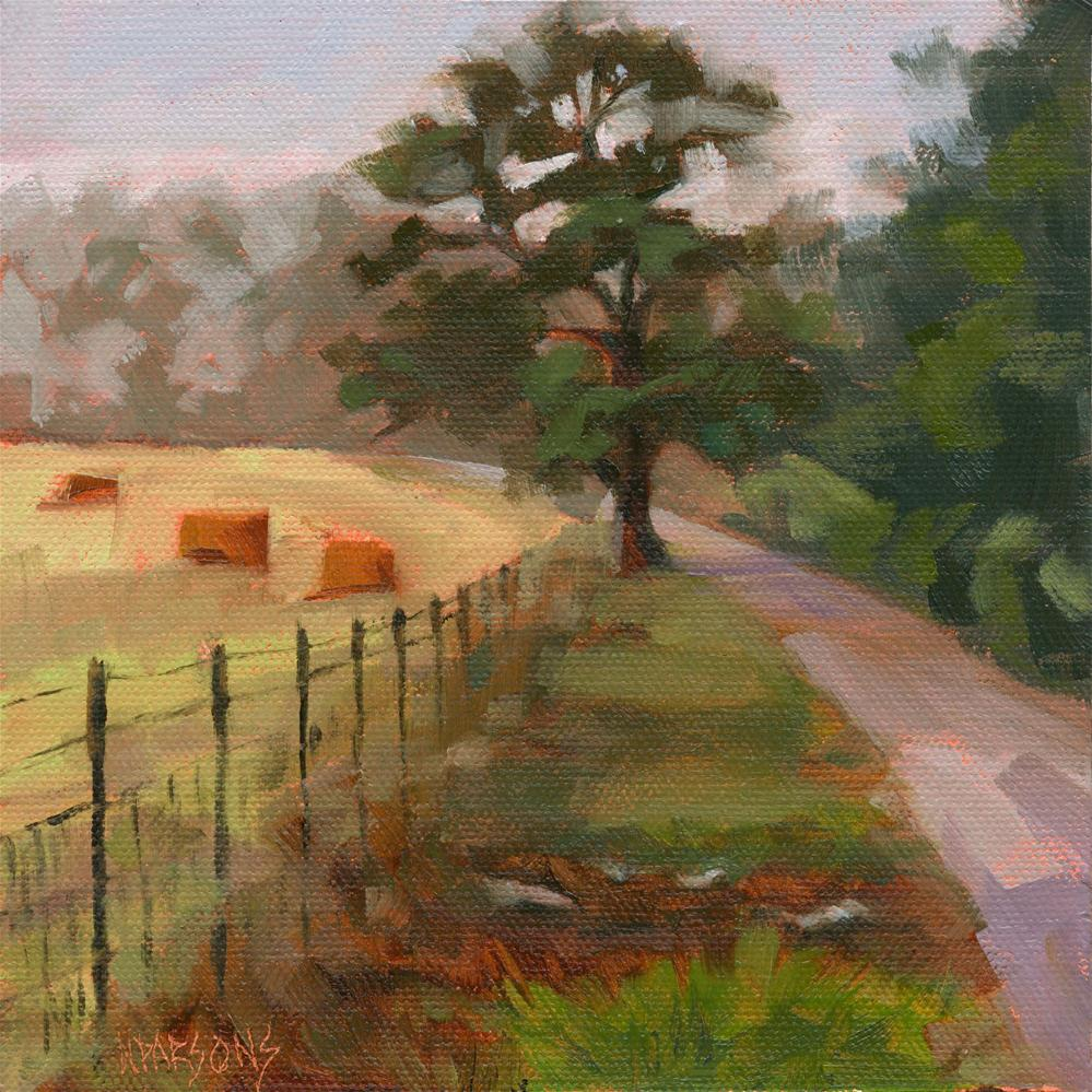 """Fog Along the Bend"" original fine art by Nancy Parsons"