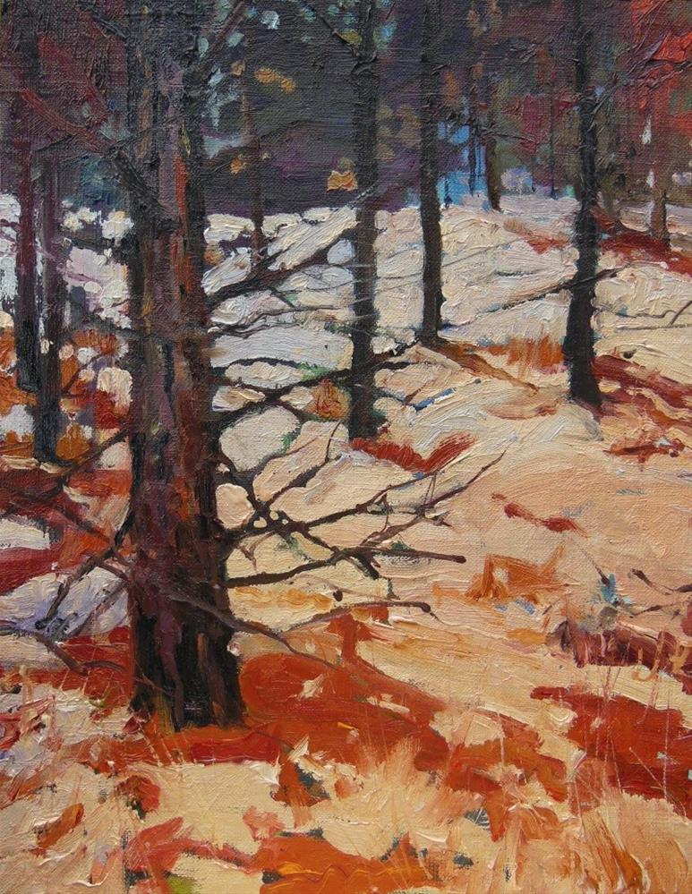 """Wenatchee Pine Forest  oil, landscape painting by Robin Weiss"" original fine art by Robin Weiss"