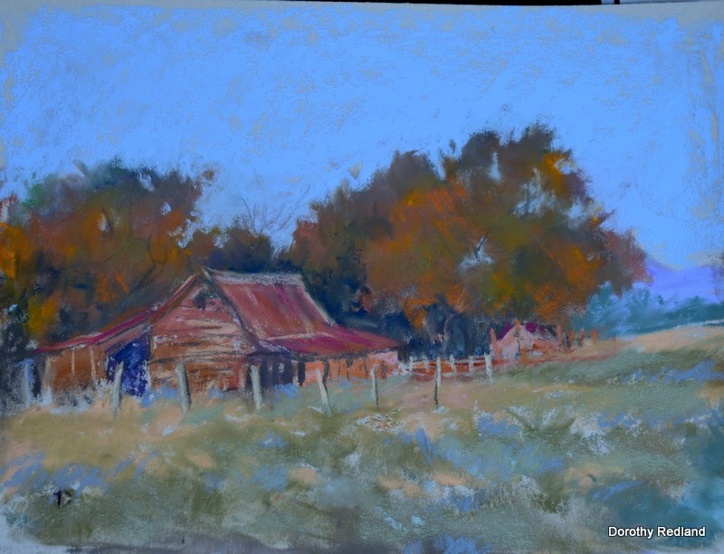 """Jim's barn"" original fine art by Dorothy Redland"