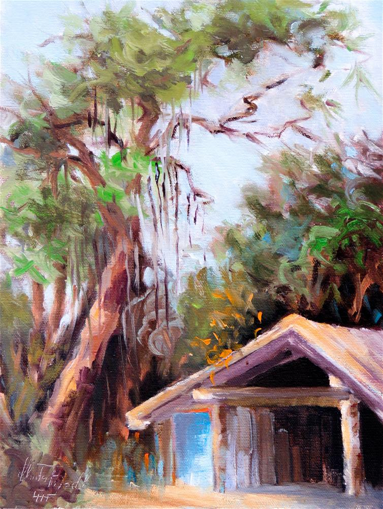 """The little shed"" original fine art by Christa Friedl"