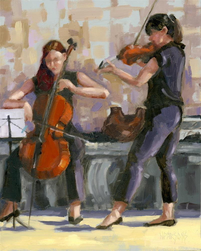 """No.1 Trio in Triptych"" original fine art by Nancy Parsons"