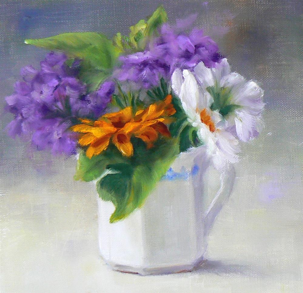 """""""Wee Bouquet"""" original fine art by Marian Stamos"""