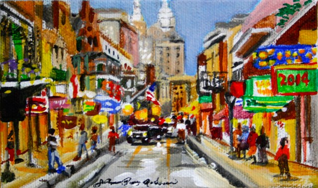 """Bourbon Street 2014"" original fine art by JoAnne Perez Robinson"