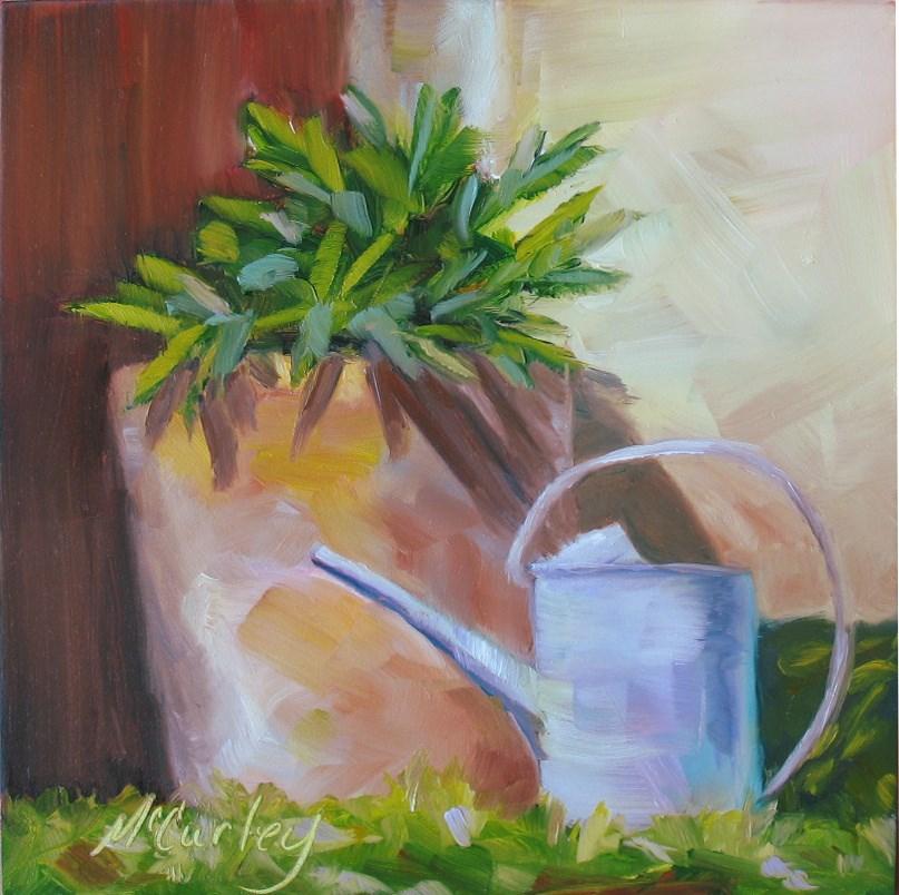 """""""Water Me"""" original fine art by Melisa McCurley"""