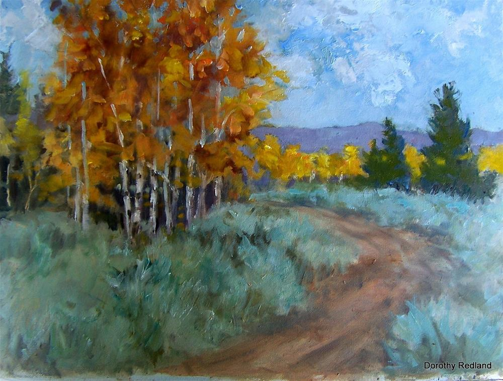 """""""Along the road to camp"""" original fine art by Dorothy Redland"""