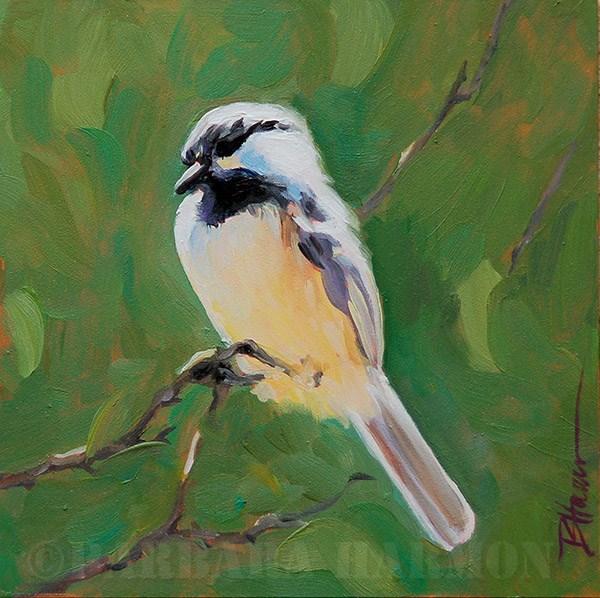 """Perched Pause"" original fine art by Barbara Harmon"