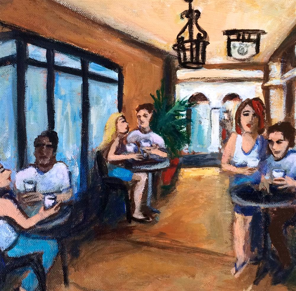 """Morning Coffee"" original fine art by Valerie Vescovi"