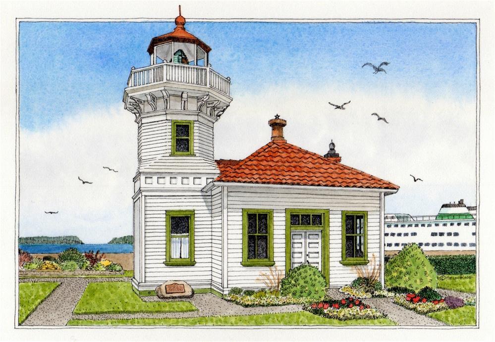 """Mukilteo Lighthouse"" original fine art by Heidi Rose"