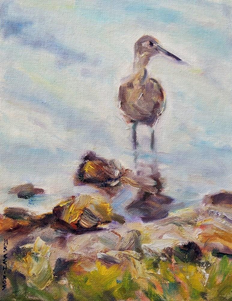"""Sandpiper"" original fine art by Mary Schiros"