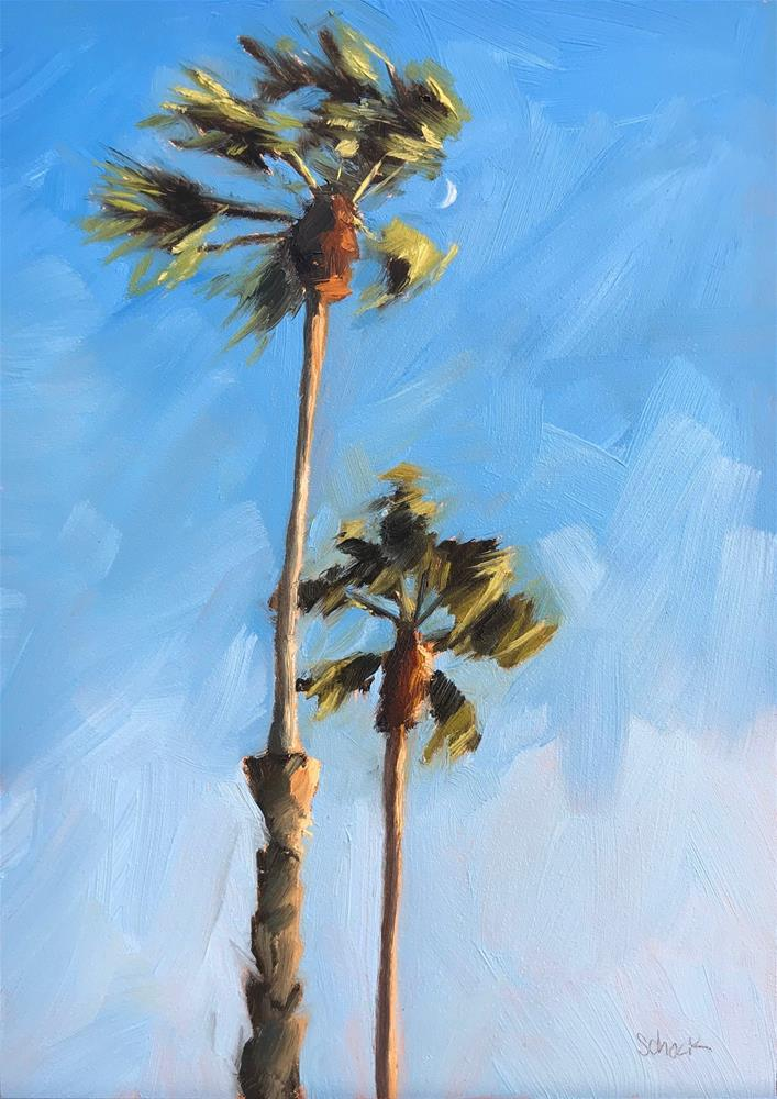 """Palms"" original fine art by Sharon Schock"