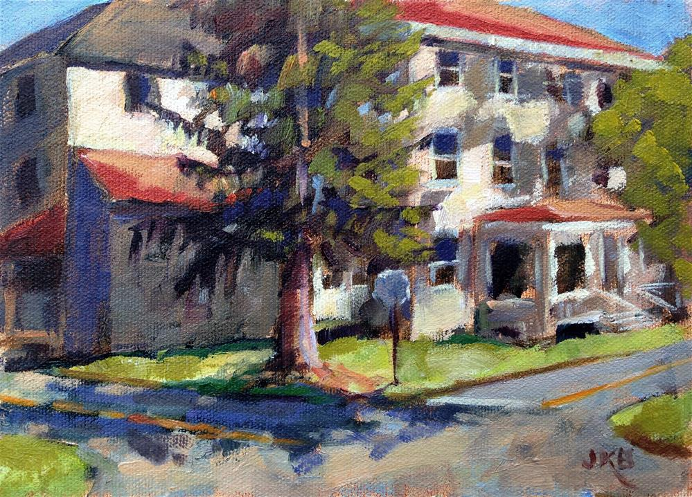 """Sugartown Crossroads"" original fine art by Jeanne Bruneau"
