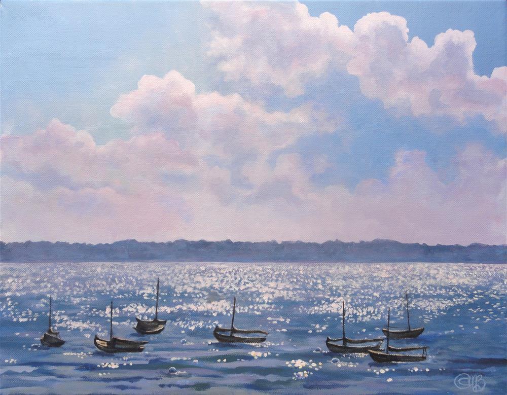 """Beautiful Light, Maine Coast"" original fine art by Christine Blain"