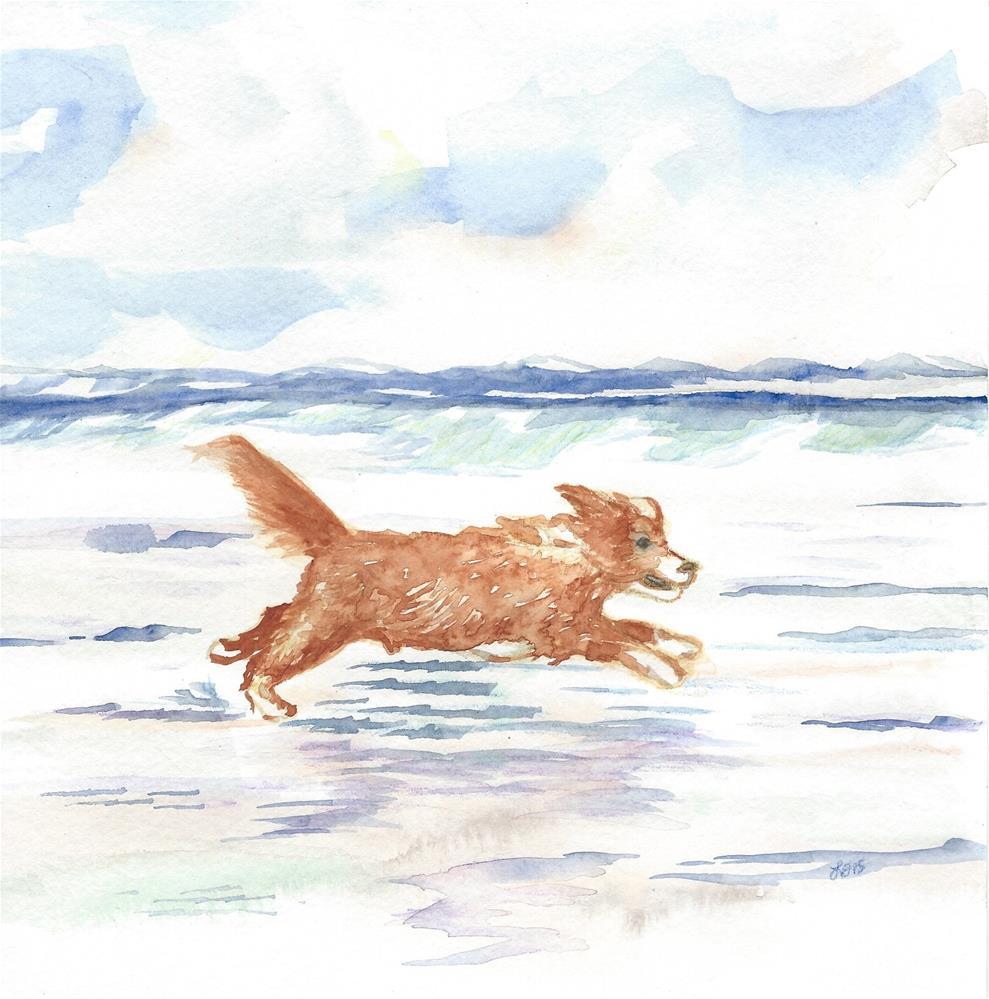 """""""Martin in Flight"""" original fine art by Laura Denning"""