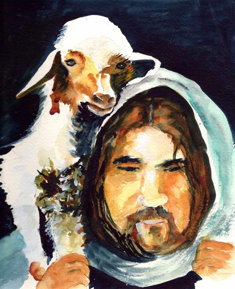 """Lost Lamb"" original fine art by Bunny Griffeth"