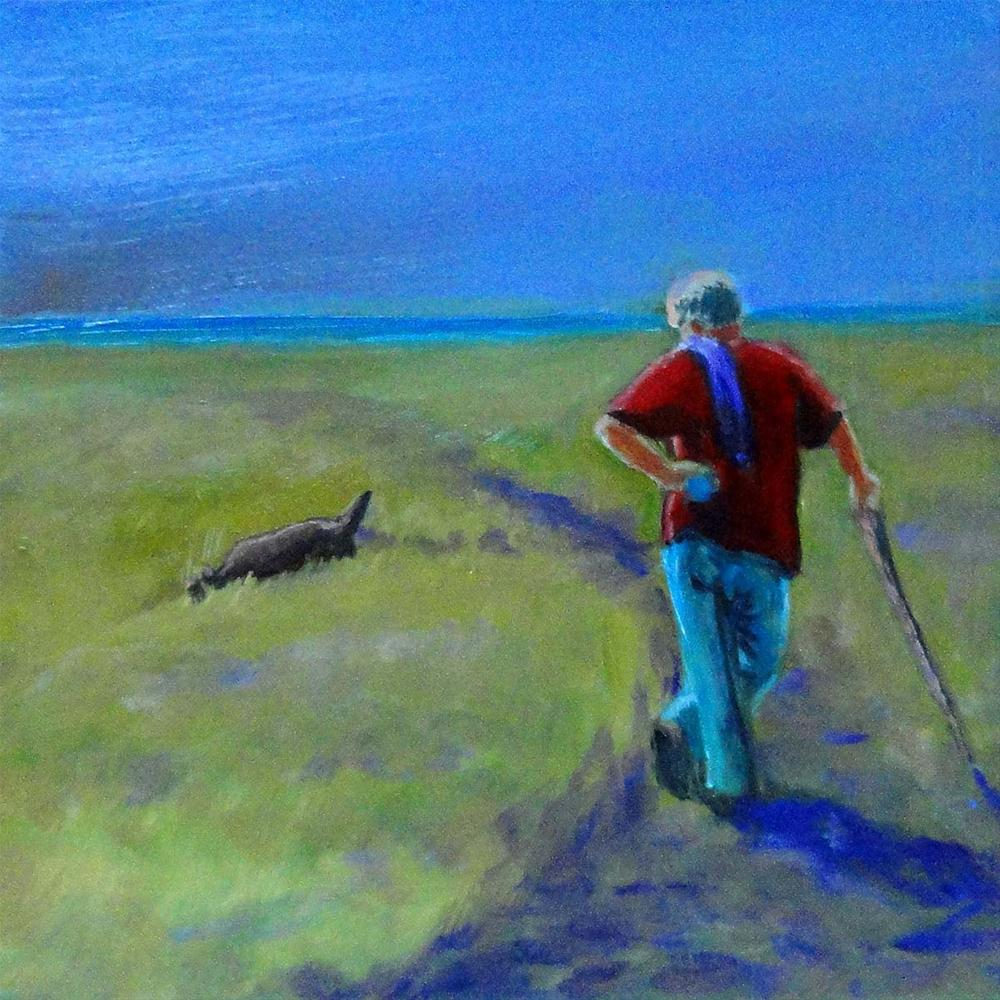 """Walking With Shorty"" original fine art by Cietha Wilson"
