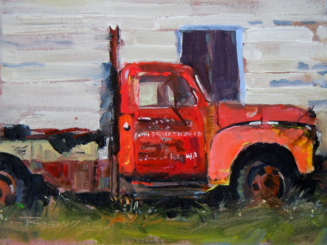"""The Hansville Truck  truck oil painting, Hansville, Washington"" original fine art by Robin Weiss"