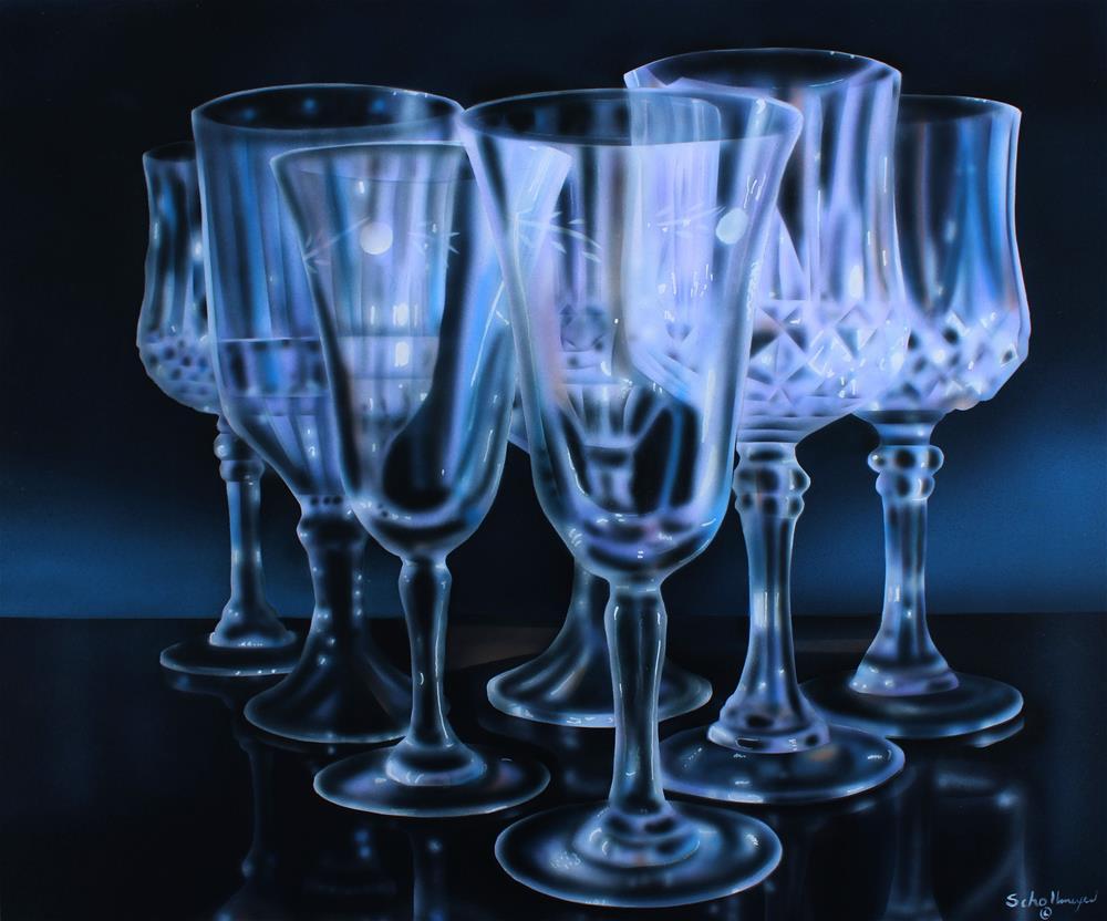 """""""Glassware"""" original fine art by Fred Schollmeyer"""