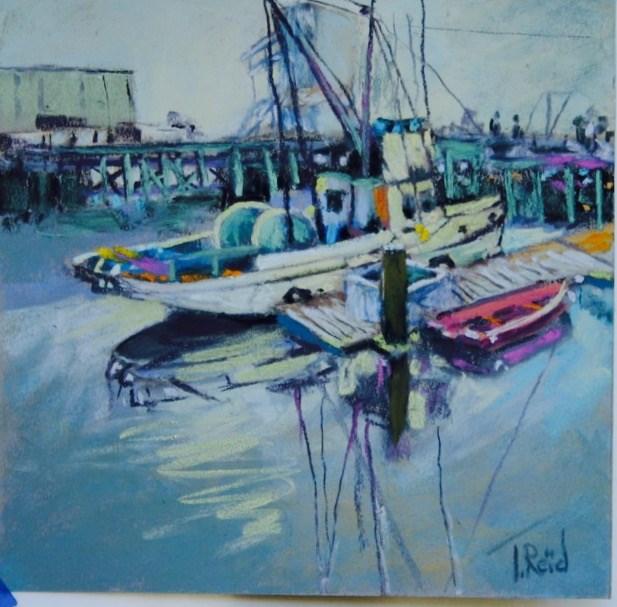 """""""Docked"""" original fine art by Toby Reid"""