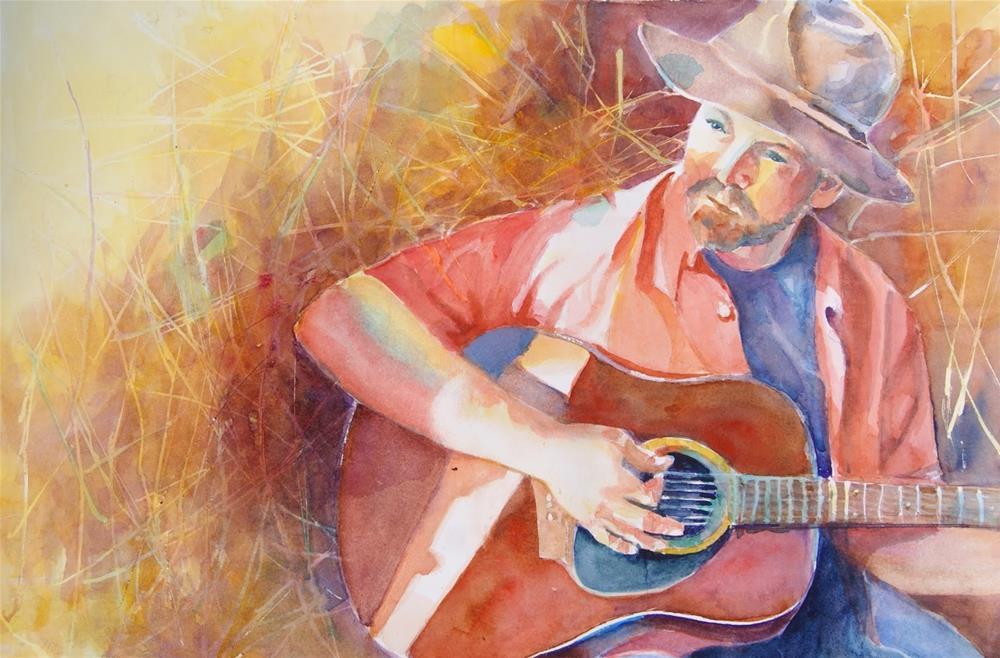 """""""Strumming in the Straw"""" original fine art by Reveille Kennedy"""