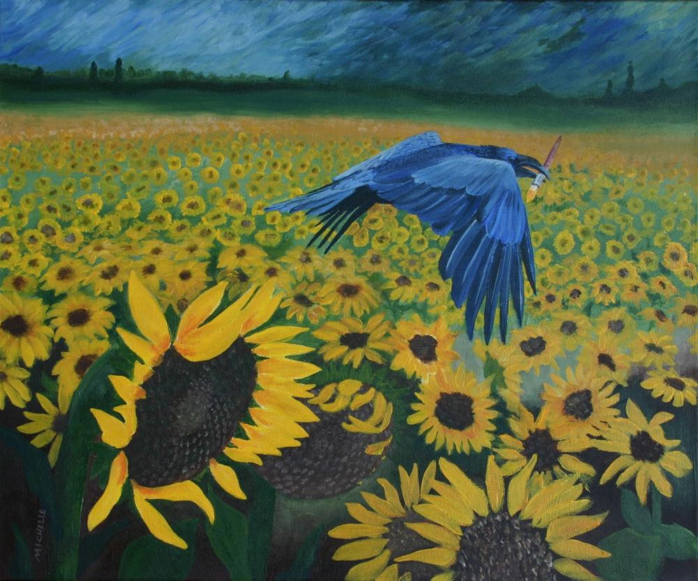 """Art Critic"" original fine art by Michelle Wolfe"