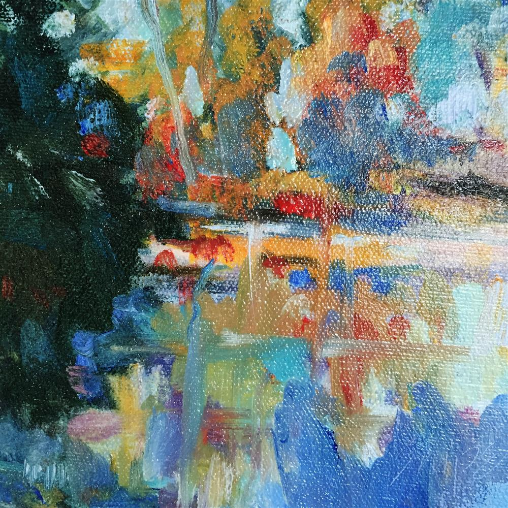 """""""The Little Pond at Pearson Farm"""" original fine art by Connie Snipes"""