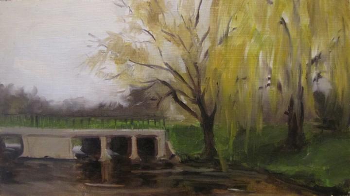 """""""66 - Off Route 60"""" original fine art by Edward Watson"""