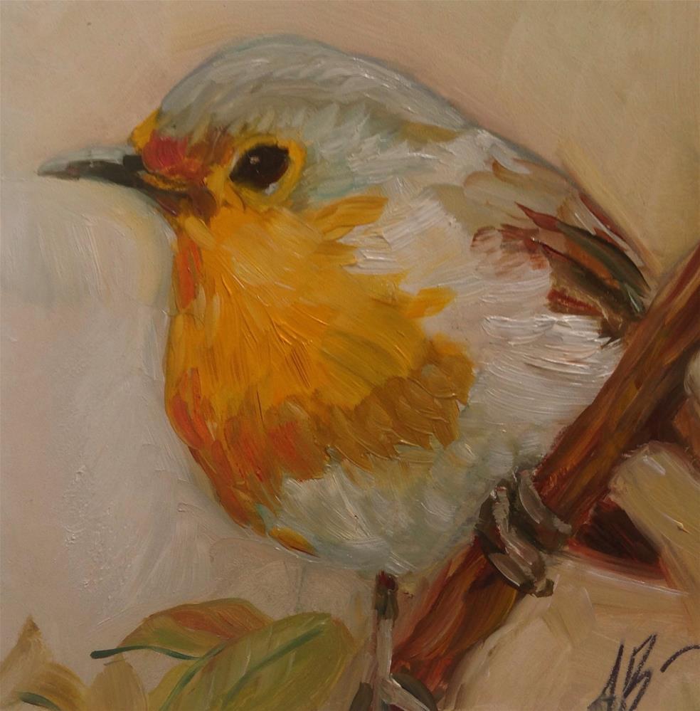 """""""Bird on a limb"""" original fine art by Annette Balesteri"""