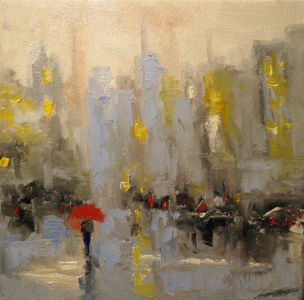 """Rainy on Friday"" original fine art by Astrid Buchhammer"