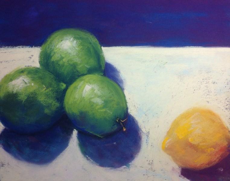 """Limeade with a Twist"" original fine art by Karen Vanderpool"