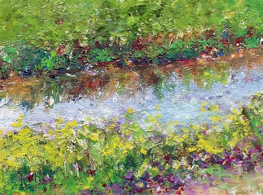 """Wildflowers Along Raccoon Island Trail (SOLD)"" original fine art by S. Lynne Price"