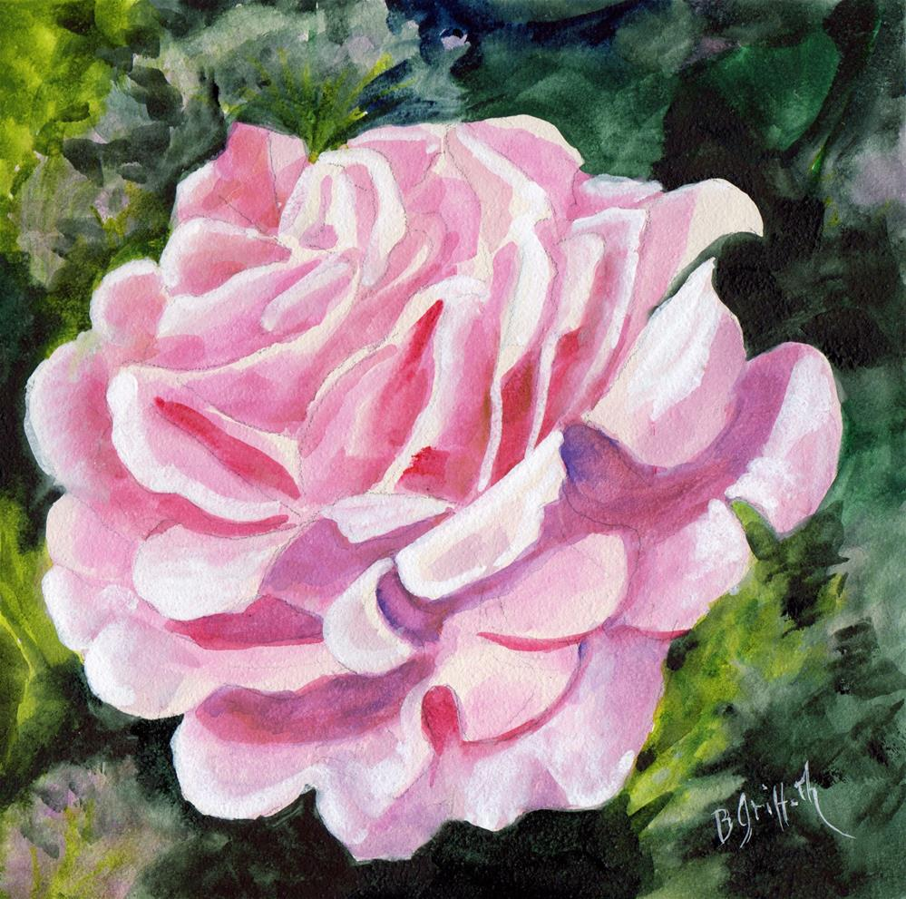 """PINK ROSE"" original fine art by Bunny Griffeth"
